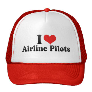 I Love Airline Pilots Mesh Hats