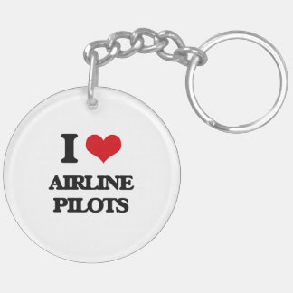 I love Airline Pilots Key Chains