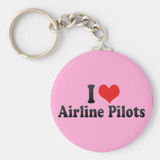 I Love Airline Pilots Keychains