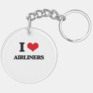 I Love Airliners Acrylic Key Chain