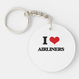 I Love Airliners Keychain