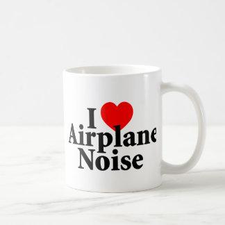 I Love Airplane Noise Basic White Mug