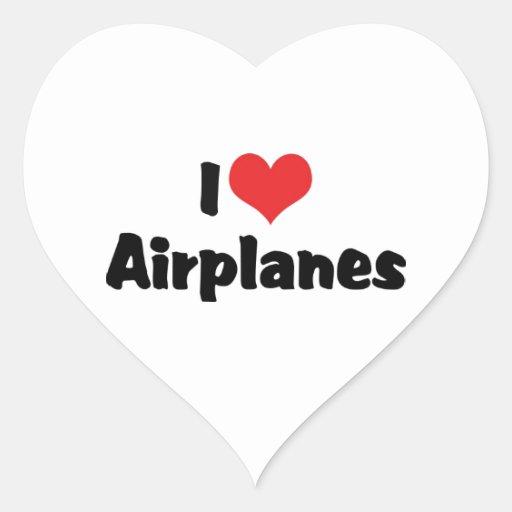 I Love Airplanes Sticker
