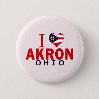 I love Akron, Ohio 6 Cm Round Badge