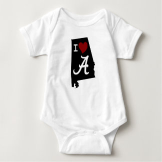 I Love Alabama Baby Jersey Bodysuit