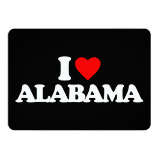 I LOVE ALABAMA 13 CM X 18 CM INVITATION CARD