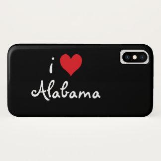 I Love Alabama iPhone X Case