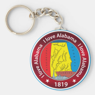 I love Alabama Key Ring