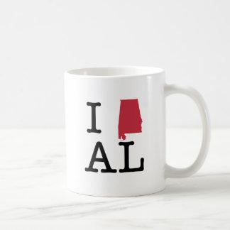 I Love Alabama Coffee Mugs
