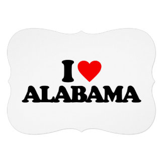 I LOVE ALABAMA PERSONALIZED ANNOUNCEMENT