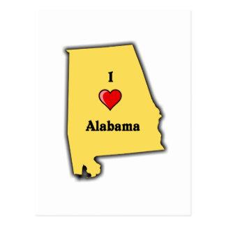 I Love Alabama Postcard