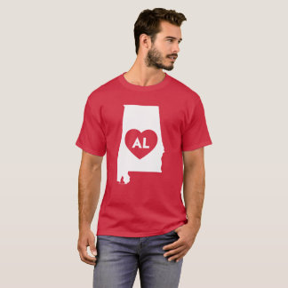 I Love Alabama State Men's Basic Dark T-Shirt