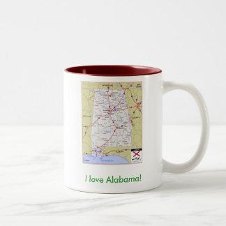 I love Alabama! Two-Tone Mug