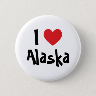 I Love Alaska 6 Cm Round Badge