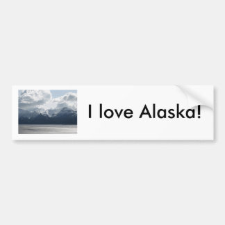I love Alaska! Bumper Sticker