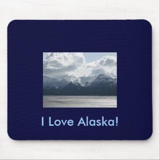 I Love Alaska! Mousepad