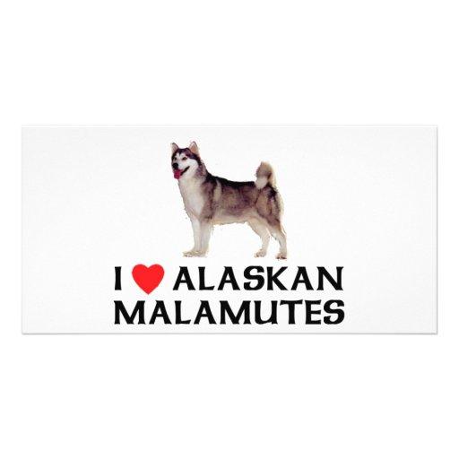 I Love Alaskan Malamutes Photo Card