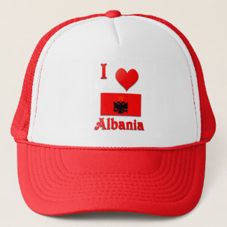 I Love Albania Trucker Hat