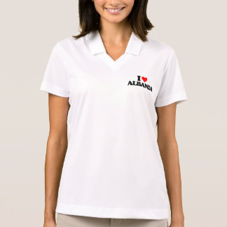 I LOVE ALBANIA POLO T-SHIRT