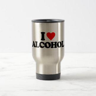 I LOVE ALCOHOL COFFEE MUGS
