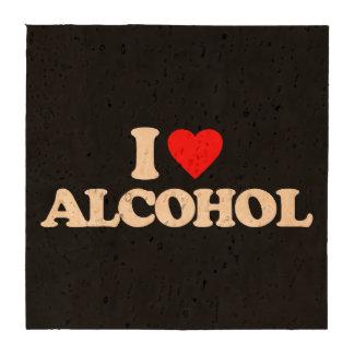 I LOVE ALCOHOL BEVERAGE COASTERS