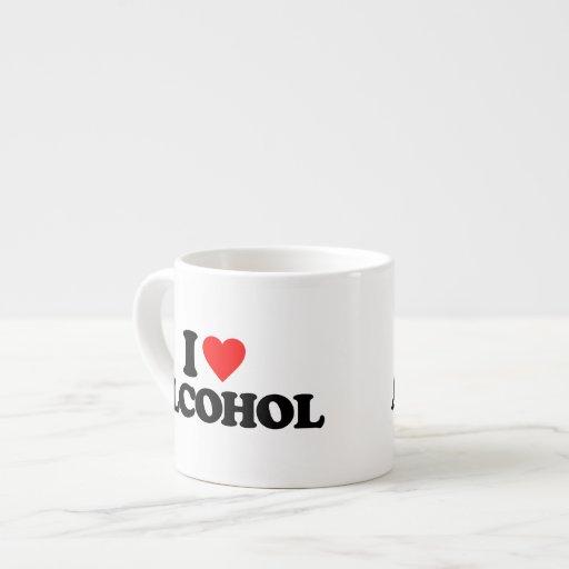 I LOVE ALCOHOL ESPRESSO MUG