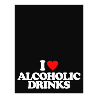 I LOVE ALCOHOLIC DRINKS PERSONALIZED FLYER