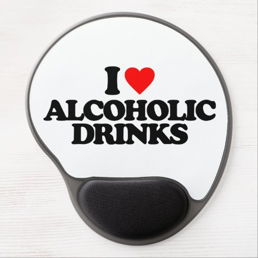 I LOVE ALCOHOLIC DRINKS GEL MOUSE PADS