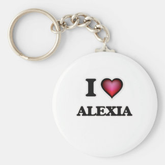 I Love Alexia Basic Round Button Key Ring
