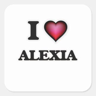 I Love Alexia Square Sticker