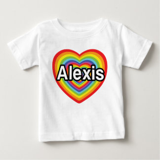I love Alexis, rainbow heart Baby T-Shirt