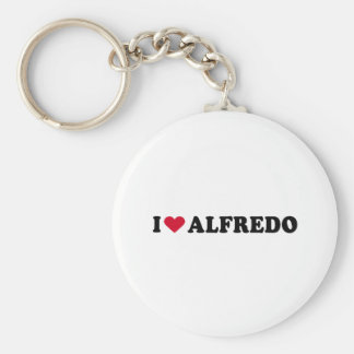 I LOVE ALFREDO BASIC ROUND BUTTON KEY RING