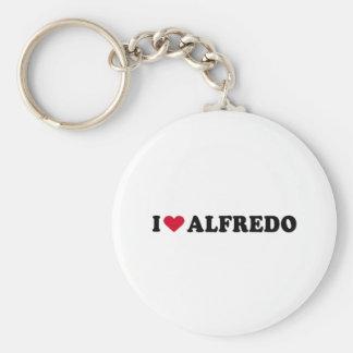 I LOVE ALFREDO BASIC ROUND BUTTON KEY RING