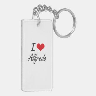 I Love Alfredo Double-Sided Rectangular Acrylic Key Ring