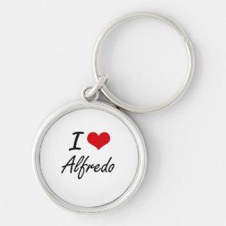 I Love Alfredo Silver-Colored Round Key Ring
