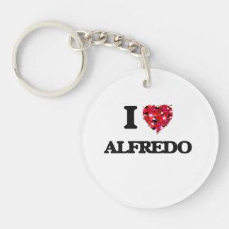 I Love Alfredo Single-Sided Round Acrylic Key Ring