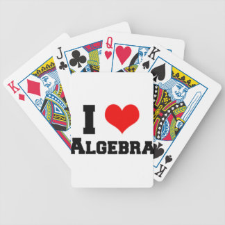 I LOVE ALGEBRA BICYCLE PLAYING CARDS
