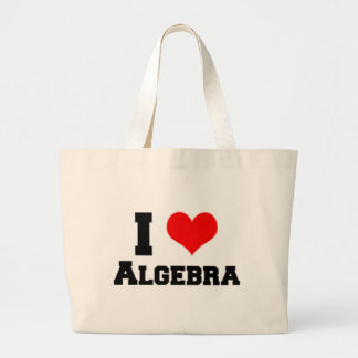 I LOVE ALGEBRA LARGE TOTE BAG