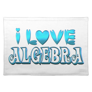 I Love Algebra Placemat