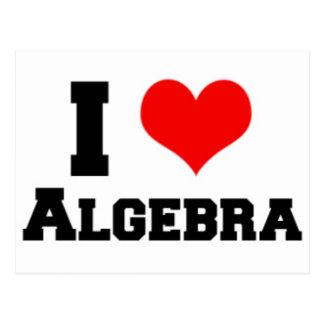 I LOVE ALGEBRA POSTCARD