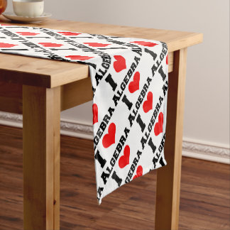 I LOVE ALGEBRA SHORT TABLE RUNNER