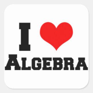 I LOVE ALGEBRA SQUARE STICKER