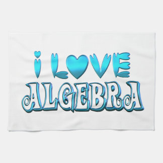 I Love Algebra Tea Towel