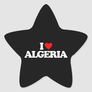 I LOVE ALGERIA STAR STICKER
