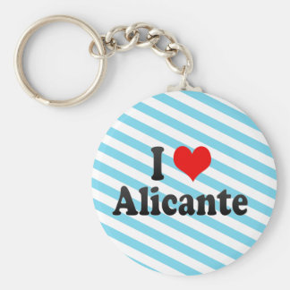 I Love Alicante, Spain Basic Round Button Key Ring