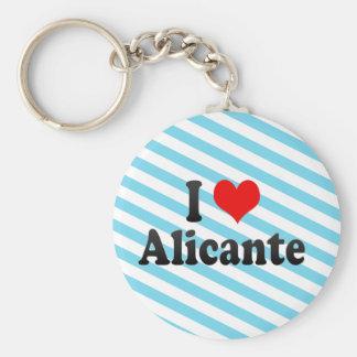 I Love Alicante, Spain Key Ring