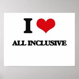 I Love All Inclusive Poster