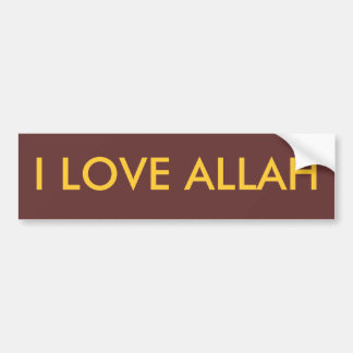 I LOVE ALLAH BUMPER STICKER