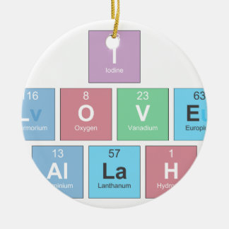 I-LOVE-ALLAH CERAMIC ORNAMENT