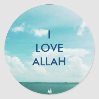 I LOVE ALLAH -Sailboat stickers